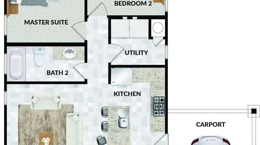 1409 Bob White Drive floorplan